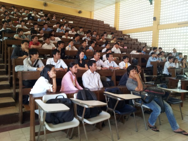 Presentation at Institute of Technology of Cambodia About Mobile Market and Mobile Technology - Students