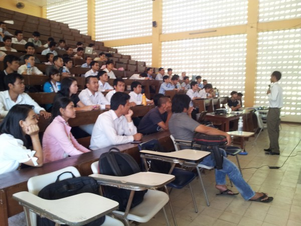 Presentation at Institute of Technology of Cambodia About Mobile Market and Mobile Technology - Phally from Front